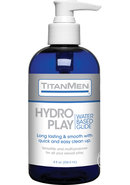 Titanmen Hydro Play Water Based Glide Lubricant 8oz